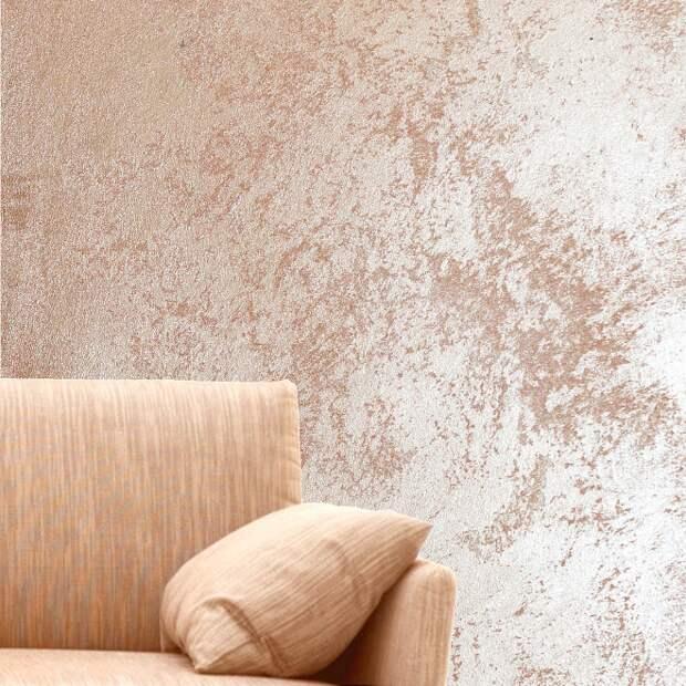 Декоративная штукатурка-песок в современном интерьере (25 фото)