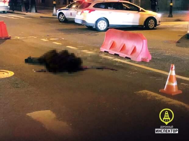 Смертельное ДТП в центре Петербурга попало на видео: человек двигался очень медленно