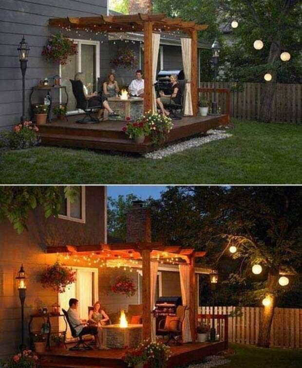 Умелое освещение добавит загадочности и романтики.