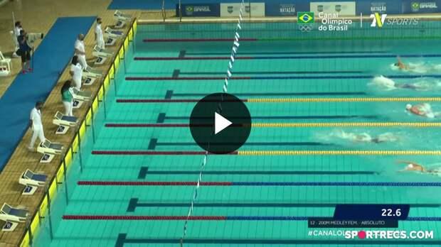 Nathalia Almeida vence, mas não alcança índice olímpico nos 200m Medley Feminino - Dia 3 do Pré-Olímpico de Natação (21/04/2021)