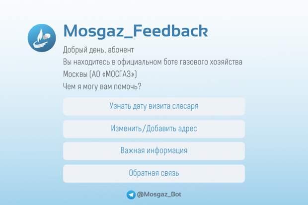 Чат-бот Мосгаза подскажет дату проверки газового оборудования в Северном Тушине