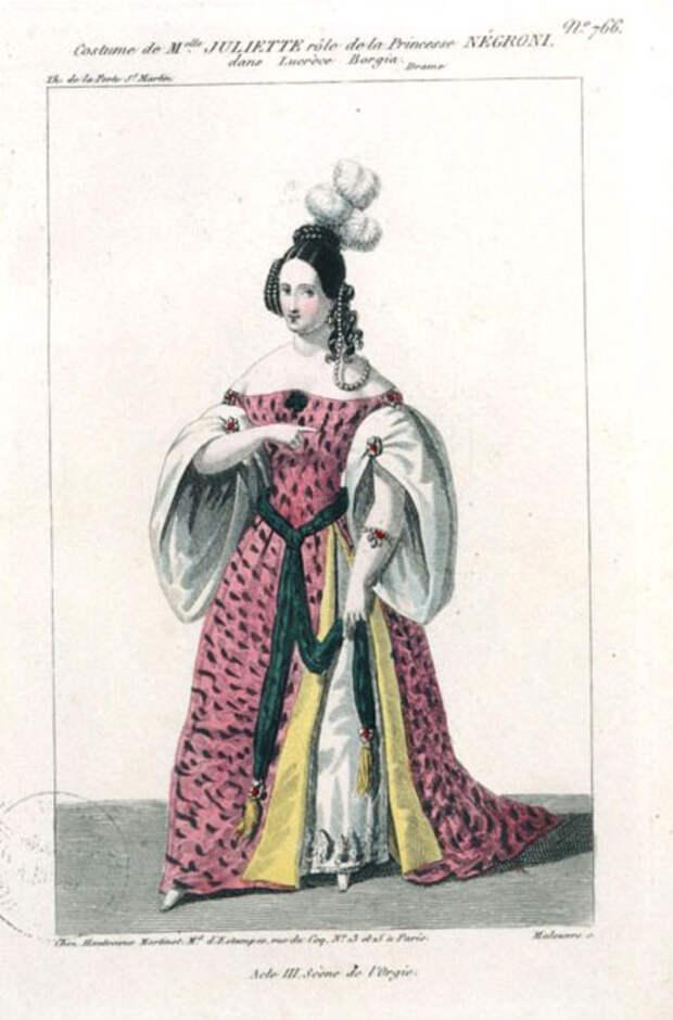 Жюльетта Друэ в роли Принцессы Негрони, XIX век.