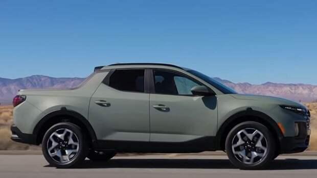 Опубликованы снимки нового пикапа Hyundai Santa Cruz 2022 года