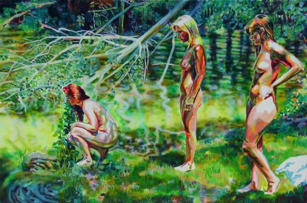 Обнаженная натура в изобразительном искусстве разных стран. Часть 117.