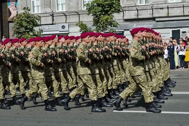 """Украинские военные, марширующие """"освобождать Кубань и Крым"""", попали на видео"""