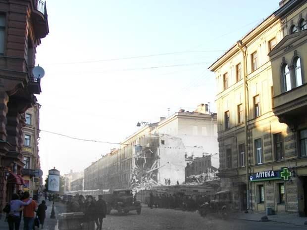 Ленинград 1941-2009 Перекресток улиц Маяковского и Жуковского блокада, ленинград, победа