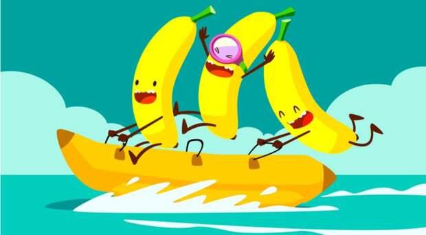 Весёлые бананы на быстром банане