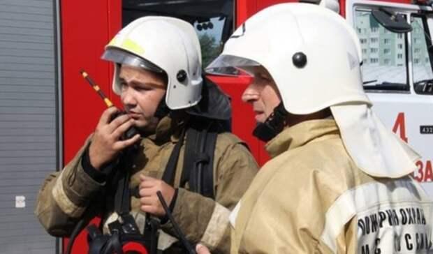 Натрассе Самара— Оренбург пожар уничтожил часть придорожного кафе