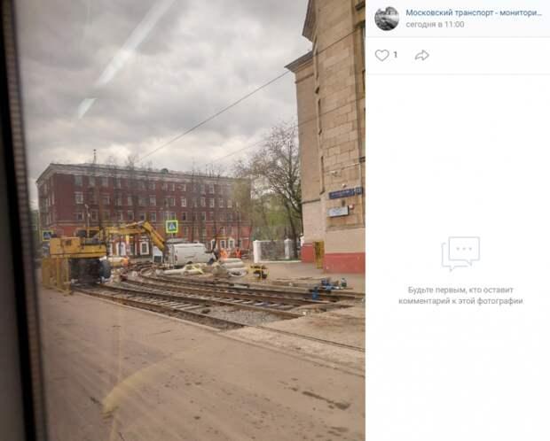 В Коптеве началась обкатка трамвайных путей
