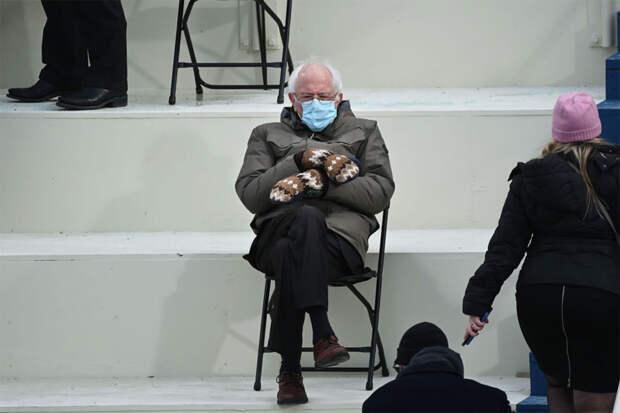 Берни Сандерс во время инаугурации Джо Байдена