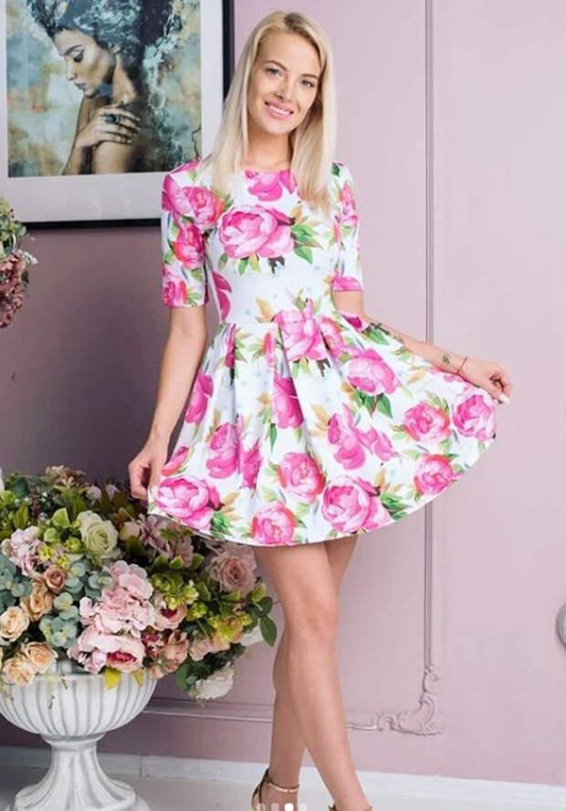 девушка в платье