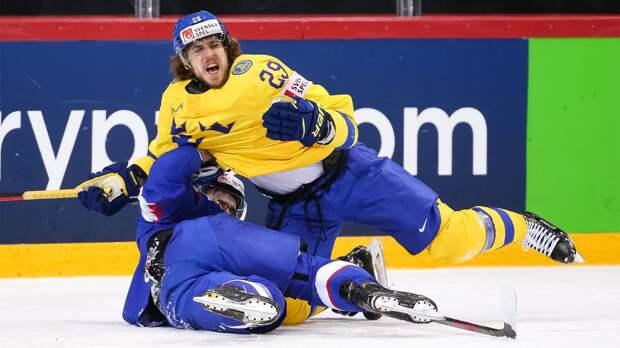 Швеция одержала волевую победу над Словакией и поднялась в зону плей-офф ЧМ-2021