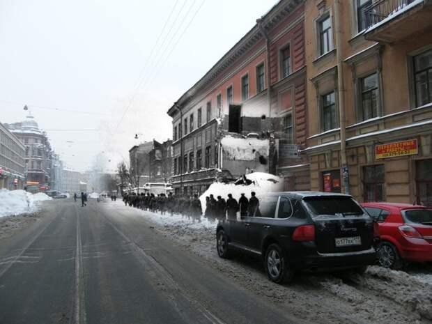 Ленинград 1942-2009 Угол Некрасова и Лиговского блокада, ленинград, победа