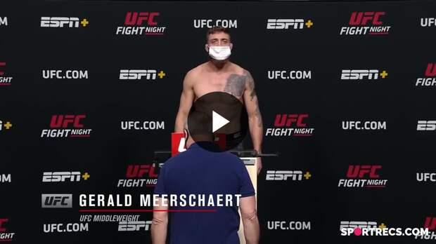 UFC Вегас 24: Церемония взвешивания
