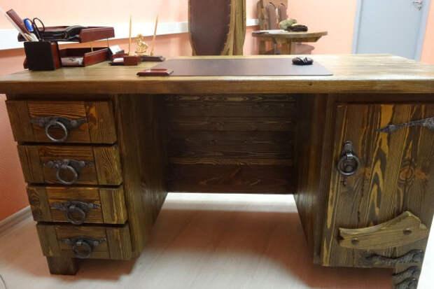 письменный стол своими руками из дерева с тумбочками