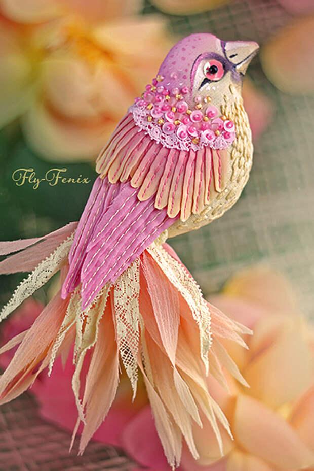Удивительные птичьи броши Юлии Гориной