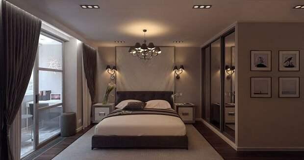 Дизайн интерьера. Освещение в спальне