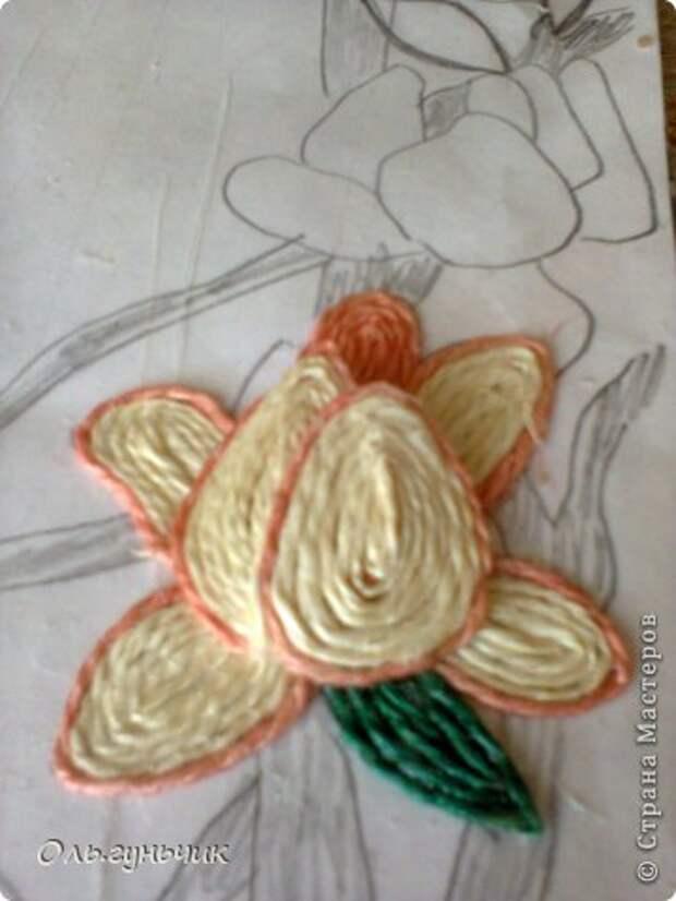 Картина панно рисунок Мастер-класс Моделирование конструирование Филигранный павлин МК Шпагат фото 24