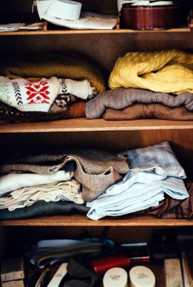 Приятный запах в шкафу.