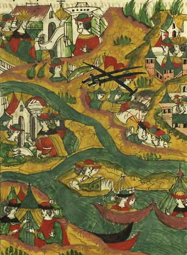Поход Вишневецкого в низовья Днепра в 1558 году. Лицевой летописный свод, т. 22 - «Война двух царей»: шаг вперёд, два шага назад | Warspot.ru