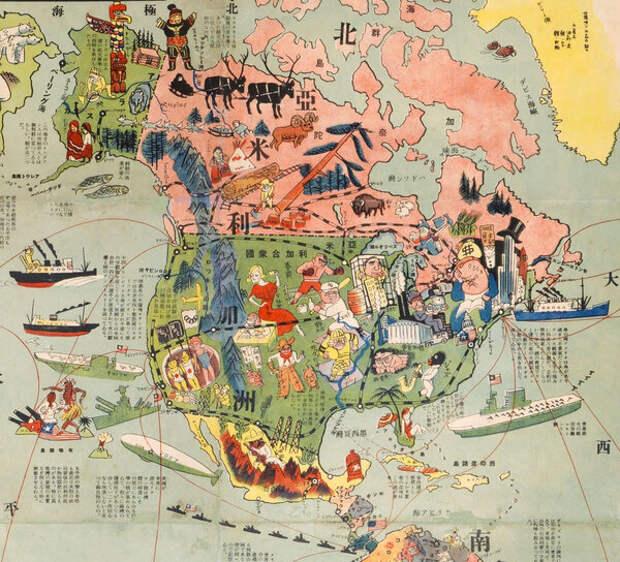 Ковбои, красотки, корабли и могучий флот США - будущий противник японского.