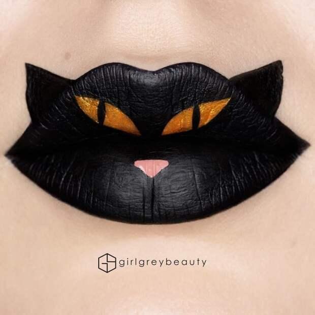 Художница создает на губах красочные шедевры