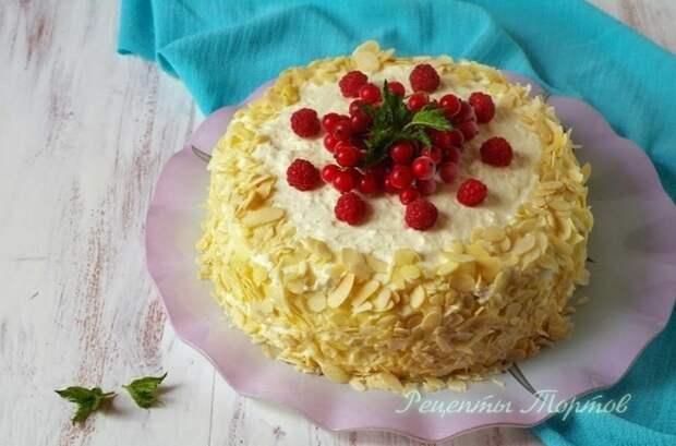 Яблочный торт с КРACНОЙ CМОРОДИНОЙ