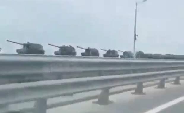 Россия перебрасывает военную технику к украинской границе в Крым