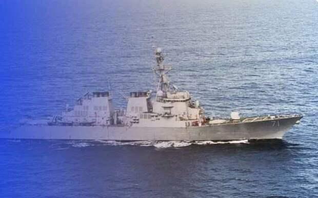 Ну вот и американцу досталось. Эсминец SS ROSS внезапно «телепортировался»