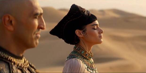 Принцесса Амонет с отцом-фараоном