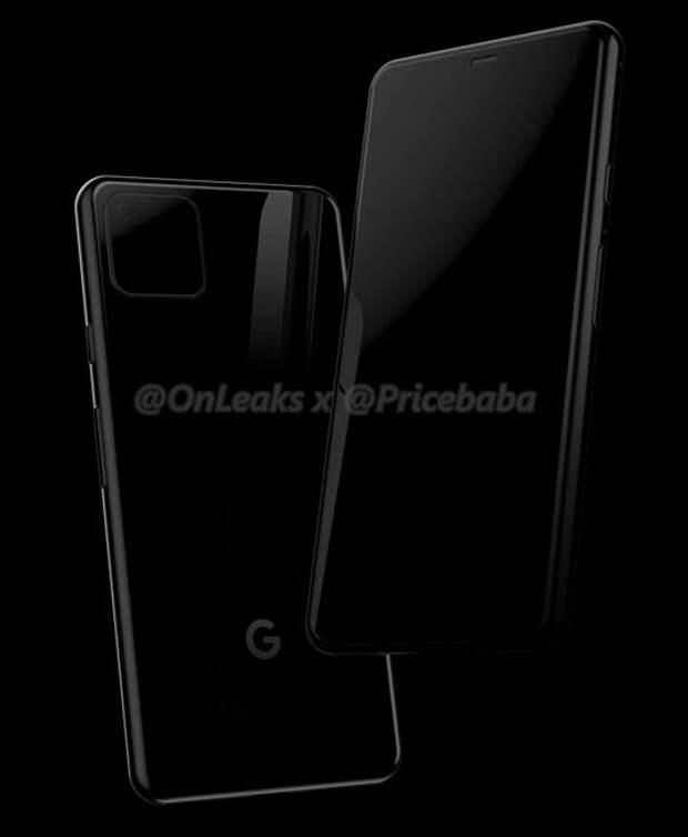 Рендеры говорят о квадратном модуле камеры Google Pixel 4