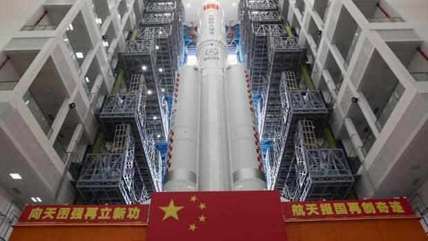 Ступень китайской ракеты Long March-5B достигла атмосферы Земли