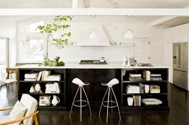 Отменный вариант оформления кухни в черно-белом цвете, что станет просто потрясающим вариантом для декора.
