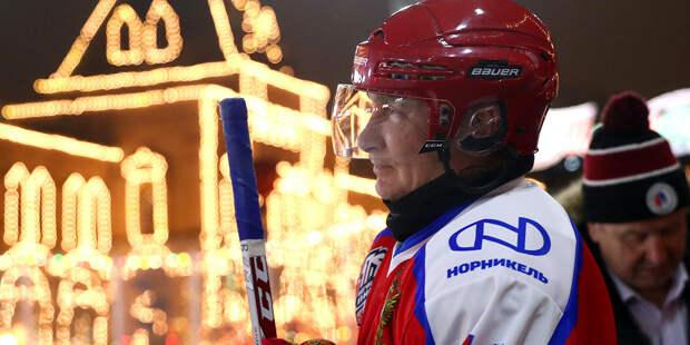 Команда Путина победила в НХЛ на Красной площади