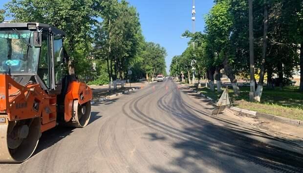 В микрорайоне Климовск Подольска ограничили проезд на Бережковском проезде