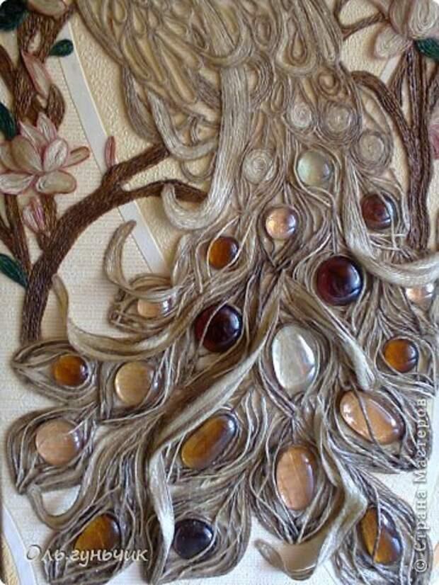 Картина панно рисунок Мастер-класс Моделирование конструирование Филигранный павлин МК Шпагат фото 47