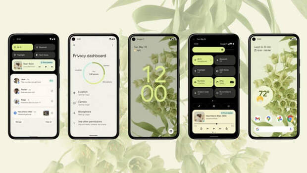 Google представила новый пользовательский интерфейс Android 12