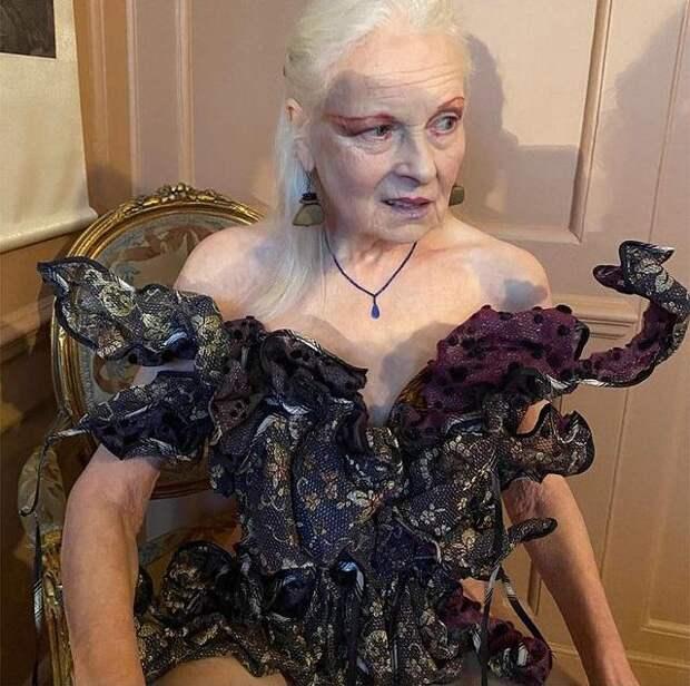 79-летняя Вивьен Вествуд обнажилась, чтобы привлечь внимание к проблемам экологии