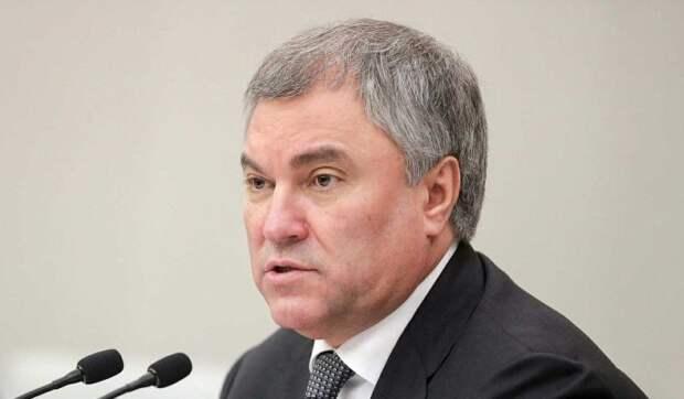 Володин предложил председателю ПАСЕ позаботиться о здоровье европейцев