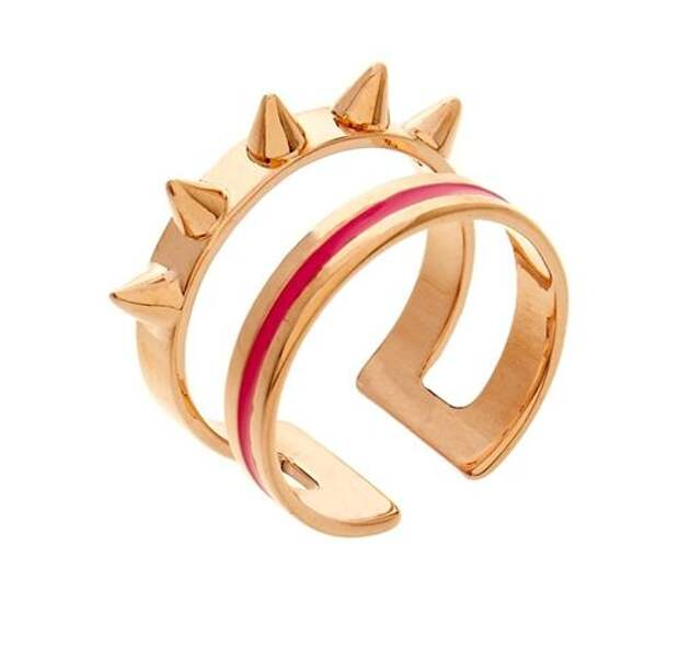 двойное разомкнутое кольцо с шипами