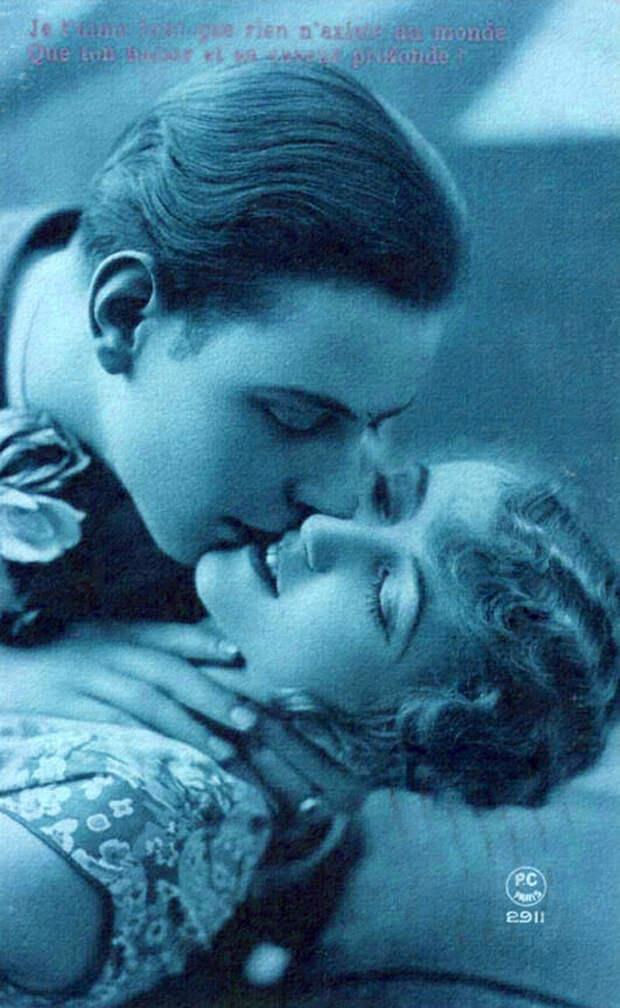 Французские открытки, в которых показано, как романтично целовались в 1920-е годы 23