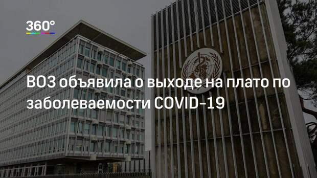 ВОЗ объявила о выходе на плато по заболеваемости COVID-19