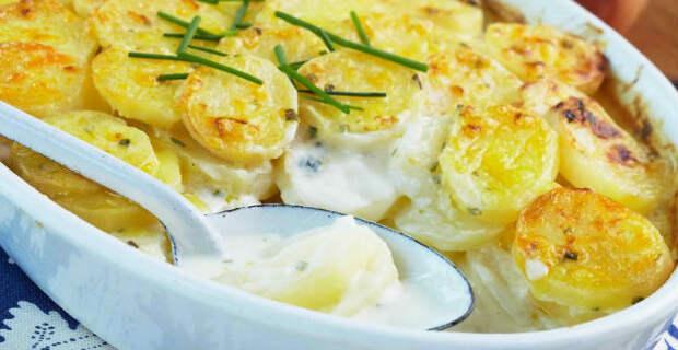 Пряный картофель с луком