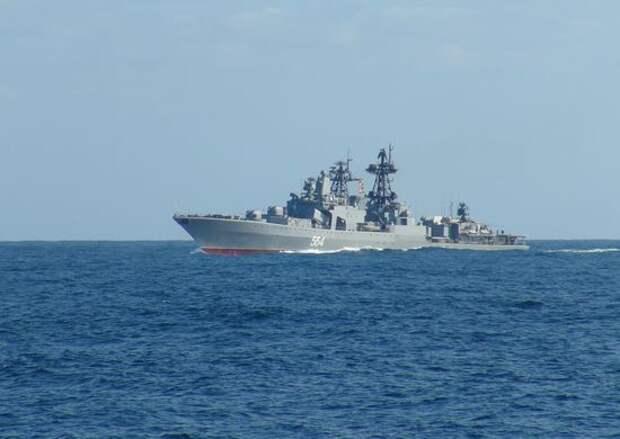 Отряд кораблей Тихоокеанского флота России прибыл вСингапур