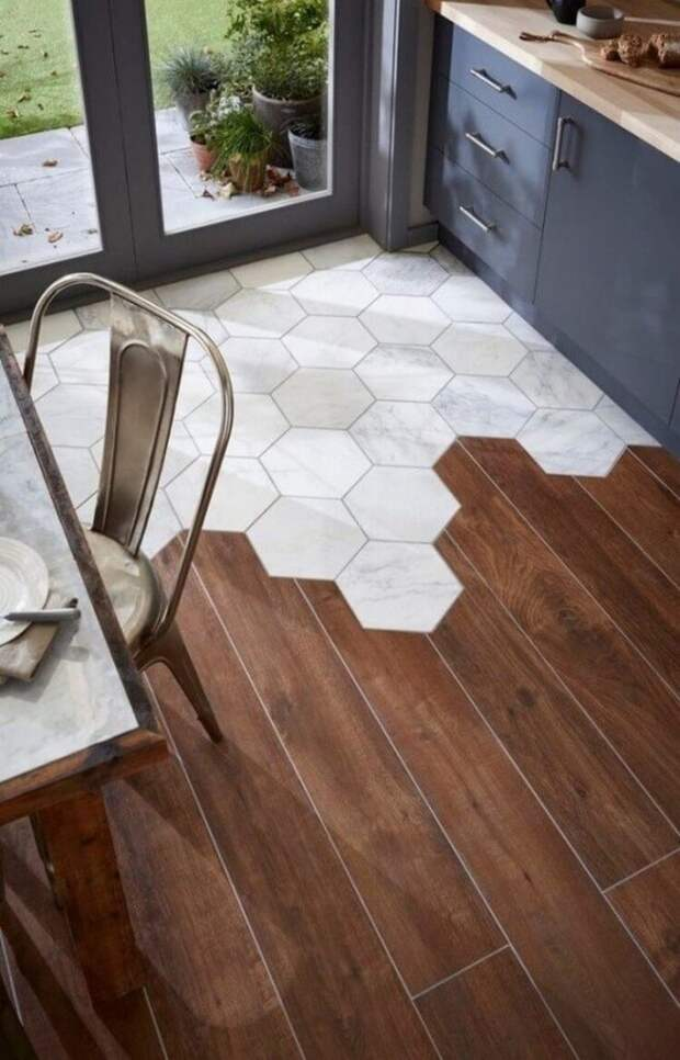 Ламинат в прихожей: выбор, монтаж и сочетание с керамической плиткой (71 фото)