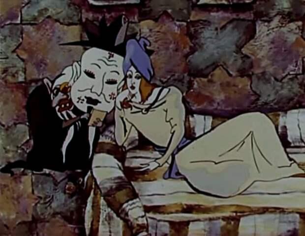 """Кадр из мультфильма """"Халиф Аист"""" (1981)"""
