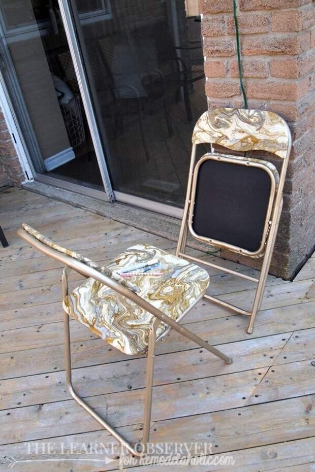 Превращаем обычный изношенный стул в дизайнерский