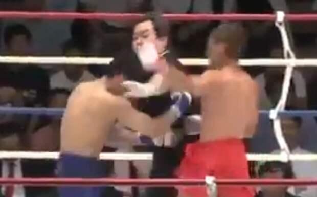 ВЯпонии натурнире побирманскому боксу боец отправил судью внокаут