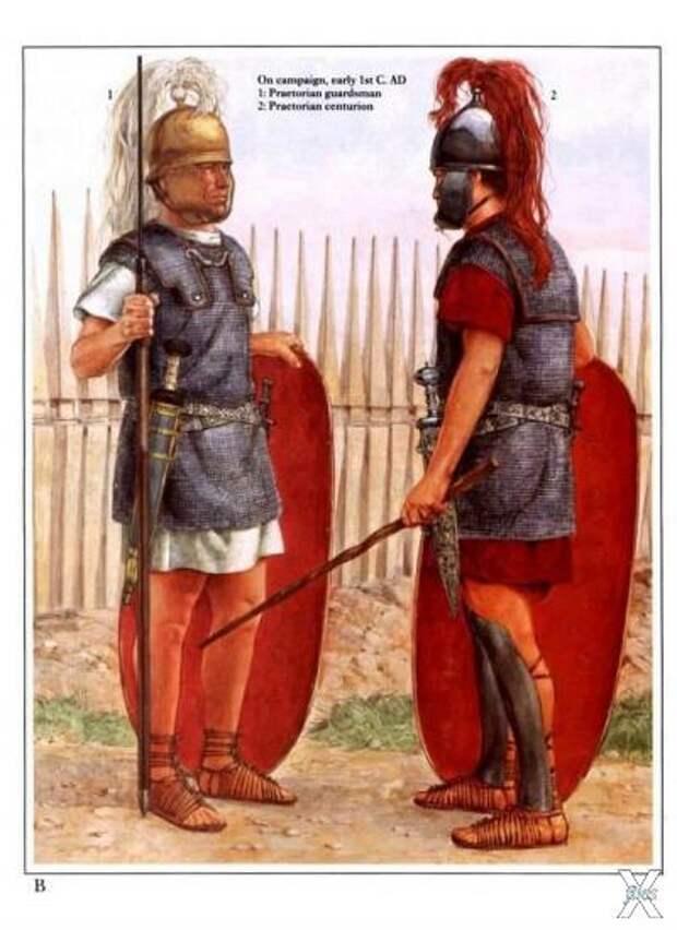 Преторианцы, начало 1-го века нашей эры