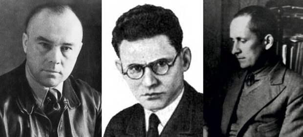 Участники конкурса на создание самолёта «Ива́нов» Николай Поликарпов, Иостф Неман и Павел Сухой